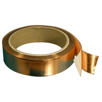 3201-25-0.035 mm thick Copper tape with conductive adhesive 25 mm width, 16.5 meters length